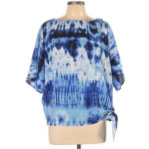 MICHAEL Michael Kors Short Sleeve Blouse Tie Dye